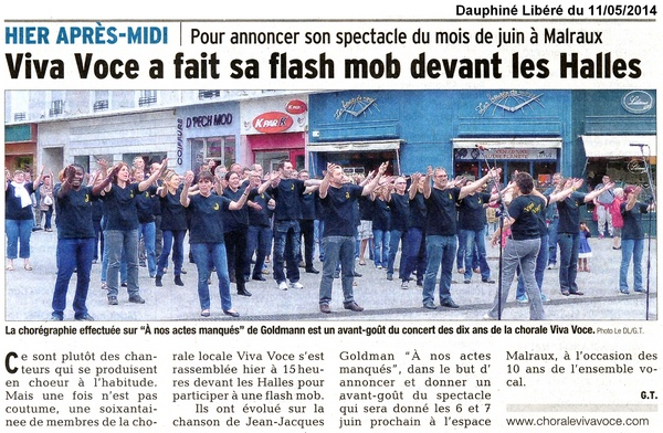Mot cl flash mob groupe vocal viva voce chamb ry for Cle chambery
